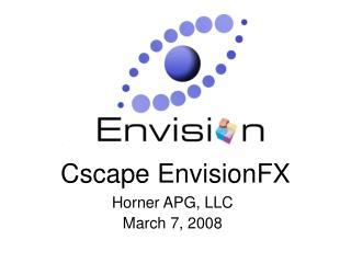 Cscape EnvisionFX