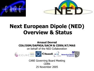 Next European Dipole (NED)  Overview & Status