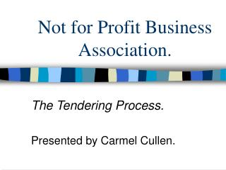 Not for Profit Business Association.