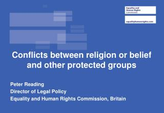 Conflicts between religion or belief and other protected groups