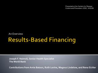 Results-Based Financing