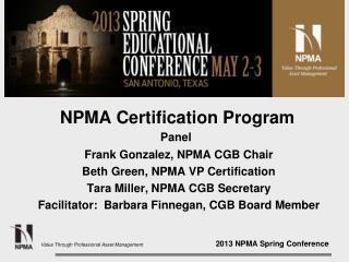 NPMA Certification Program