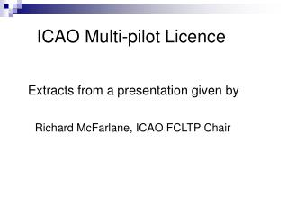 ICAO Multi-pilot Licence