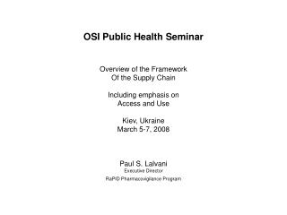 OSI Public Health Seminar
