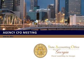 Agency CFO MEETING