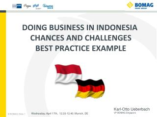 Doing Business in Indonesia  Chances  and  Challenges Best practice example