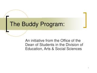 The Buddy Program: