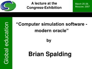 """Computer simulation software - modern oracle"""