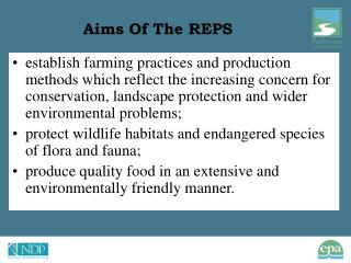 Aims Of The REPS