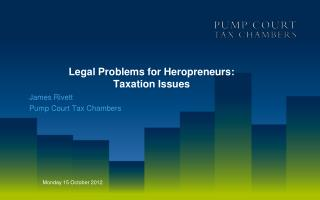 Legal Problems for Heropreneurs:  Taxation Issues