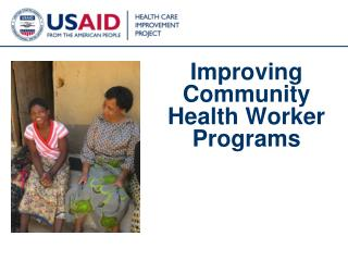 Improving Community Health Worker Programs