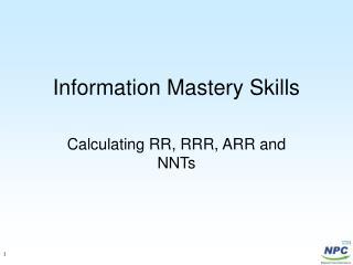 Information Mastery Skills