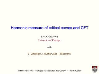 Harmonic measure of critical curves and CFT