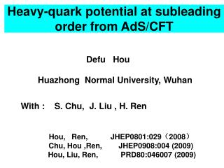 Heavy-quark potential at subleading order from AdS/CFT
