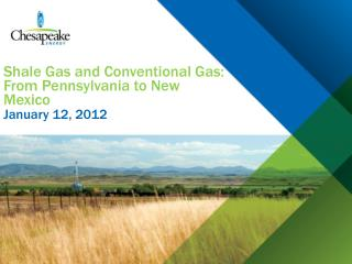 Shale Gas and Conventional Gas: From Pennsylvania to New Mexico