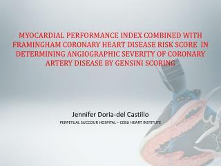 Jennifer Doria-del Castillo PERPETUAL SUCCOUR HOSPITAL – CEBU HEART INSTITUTE