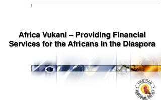 Africa Vukani – Providing Financial Services for the Africans in the Diaspora