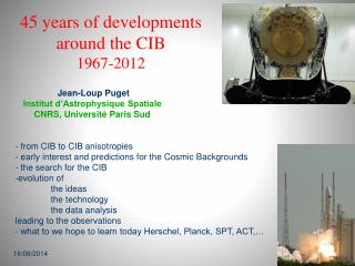 45 years of developments around the CIB 1967-2012