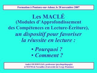 Formation � Pontonx-sur-Adour, le 28 novembre 2007