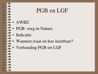 PGB en LGF