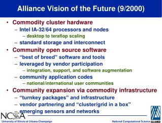Alliance Vision of the Future (9/2000)