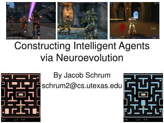 Constructing Intelligent Agents via Neuroevolution