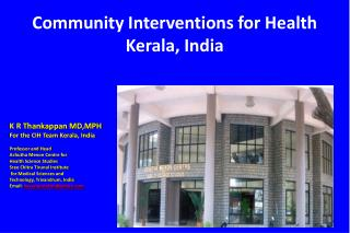 Community Interventions for Health Kerala, India