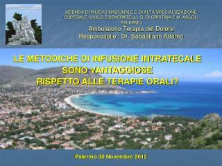 Palermo 30 Novembre 2012