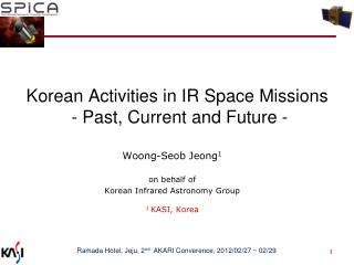 Korean Activities in IR Space Missions  - Past, Current and Future -