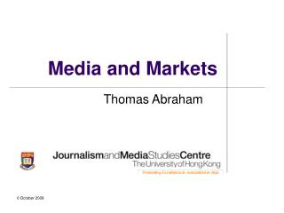 Media and Markets