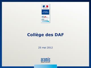 Collège des DAF