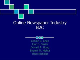 Online Newspaper Industry