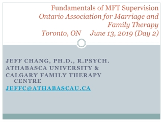 The Fundamental Concepts of Family Therapy