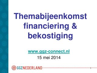 Themabijeenkomst financiering & bekostiging