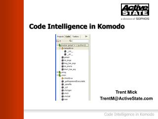 Code Intelligence in Komodo
