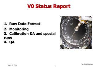 V0 Status Report