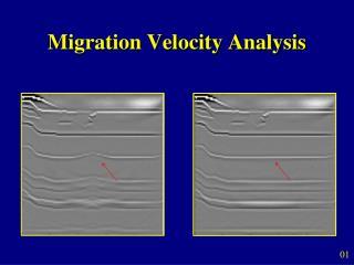 Migration Velocity Analysis