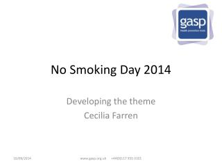 No Smoking Day 2014