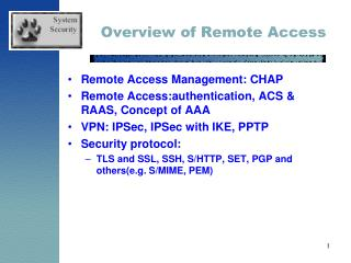 Overview of Remote Access