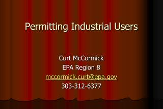 Permitting Industrial Users