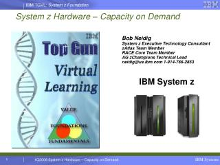 System z Hardware – Capacity on Demand