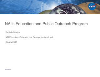 NAI's Education and Public Outreach Program