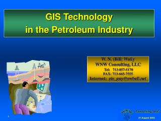 GIS Technology in the Petroleum Industry