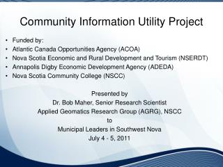 Community Information Utility Project