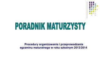 PORADNIK MATURZYSTY
