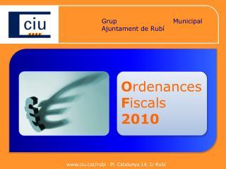 Grup Municipal de CiU Ajuntament de Rubí