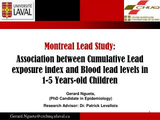 Montreal Lead Study: