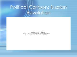 Political Cartoon: Russian Revolution