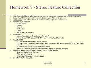 Homework 7 - Stereo Feature Collection