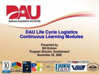 DAU Life Cycle Logistics Continuous Learning Modules